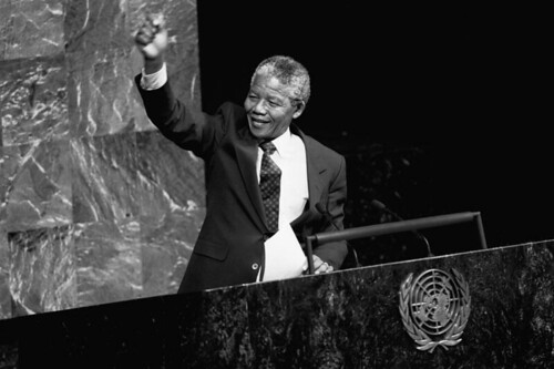 Nelson Mandela (ANC) Addresses Special Committee Against Apartheid | by United Nations Photo
