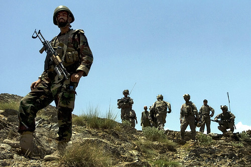 Afghan soldier on border patrol | by The U.S. Army