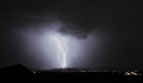 longexposure arizona night monsoon lightning whitetankmountains