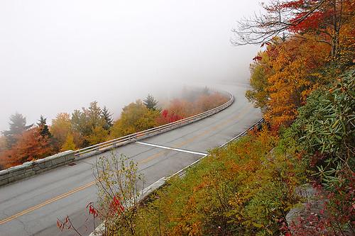bridge autumn fall fog d70s northcarolina viaduct explore blueridgeparkway grandfathermountain linncoveviaduct linncove
