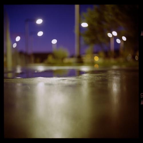 park blue 120 6x6 tlr film fence mediumformat square lasvegas bokeh sidewalk twinlensreflex yashicad canoscan8800f ektar100