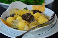 Gnudi with Jerusalem artichoke and truffle