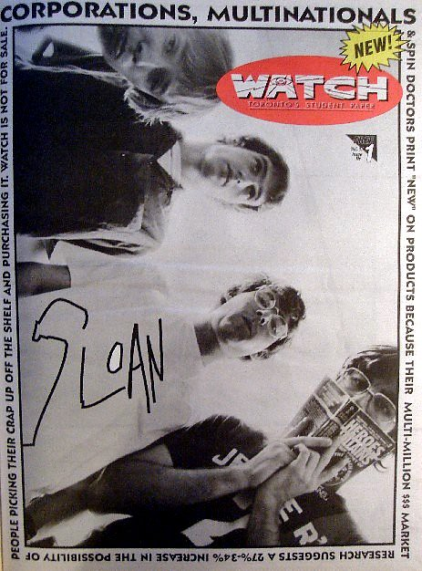 Watch Magazine: Sloan Cover