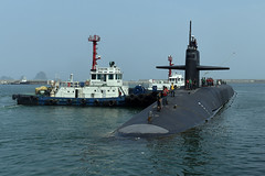 USS Michigan (SSGN 727) arrives in Busan June 23. (U.S. Navy/MC1 Abraham Essenmacher)