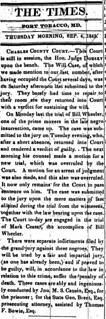 Bill Wheeler convicted in MD slave insurrection: 1845 | by Washington Area Spark