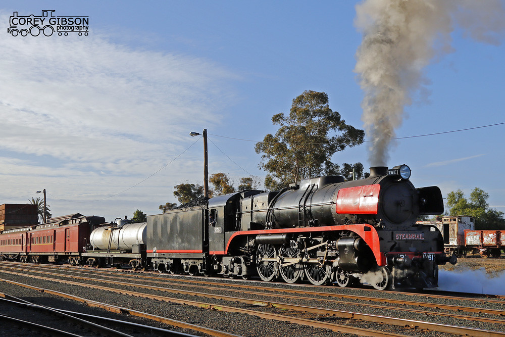 Steamrail R761 all set to depart Echuca by Corey Gibson