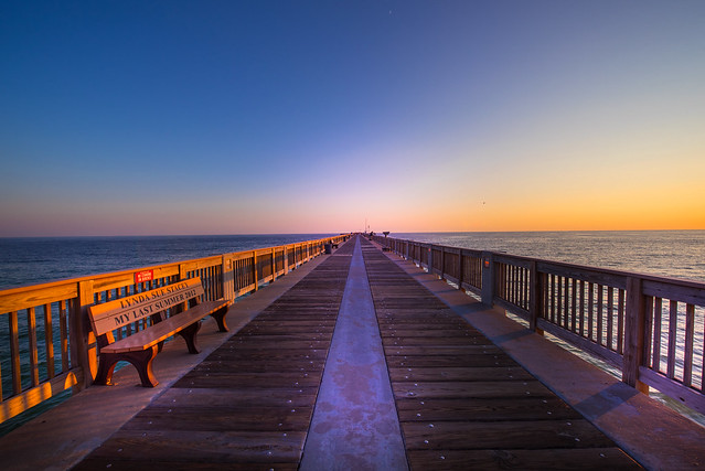 Sunset feeling at Pier in Panama City Beach - Florida - USA
