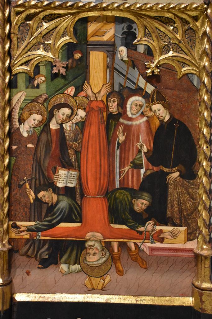 Crucifixión de San Pedro. Retablo de san Miguel y san Pedro