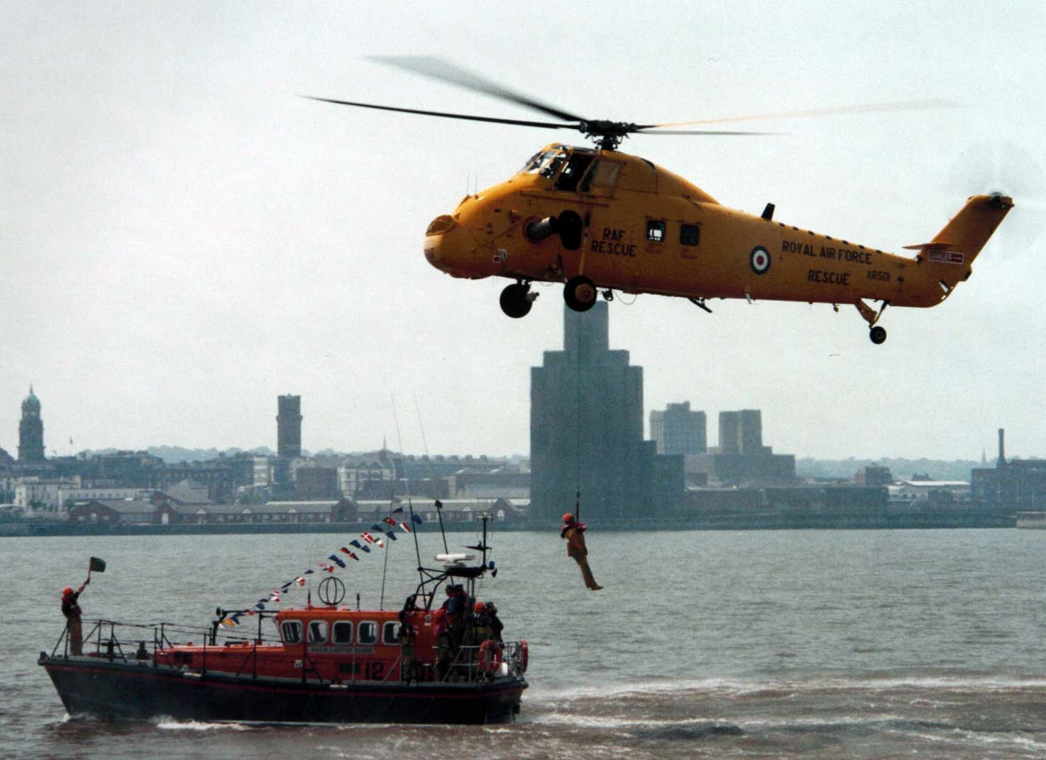 Air sea Rescue,Mersey River,Liverpool RNLI,air,sea,rescue,mersey,river,liverpool,birkenhead,wirral,june,festival,helecopter,helicoptor,this photo rocks,city,town,merseyside,hotpix!