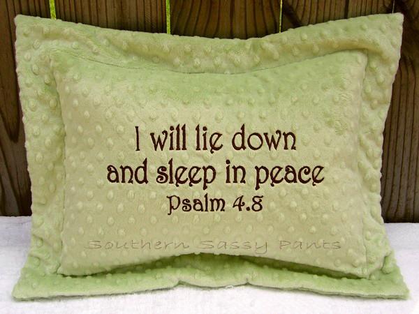 Scripture Minky Pillow