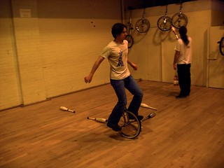 Unicycling at the Club