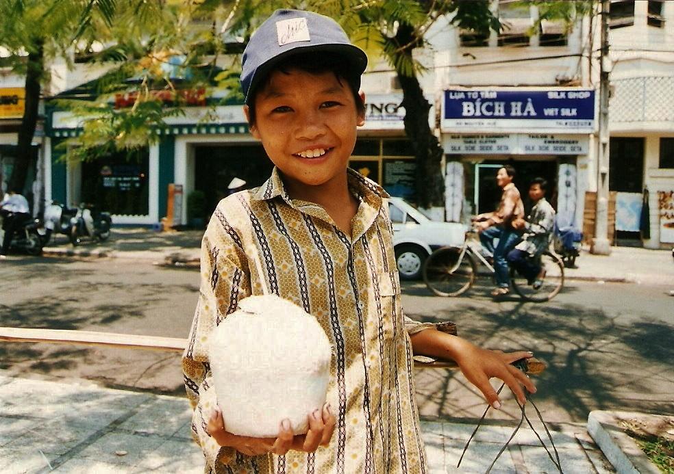 Coconut vendor with ......