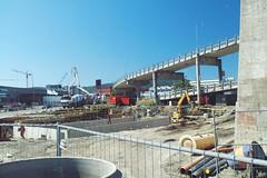 2005.07.05 - Anleggsarbeidet ved DORA, med Kjeldsberg Kaffe og Tollpost Globe i bakgrunnen