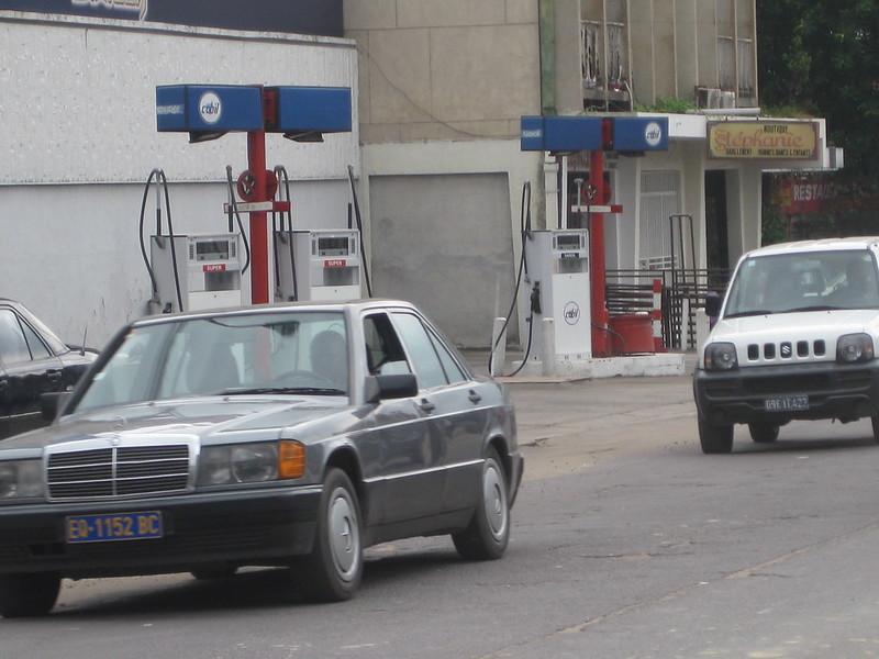 Une Station carburant à Kinshasa