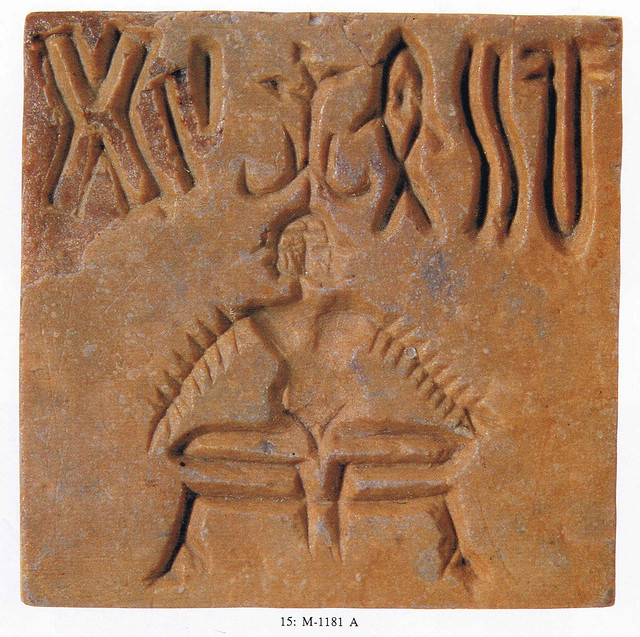 A cernunnos-like person on an Indus-seal