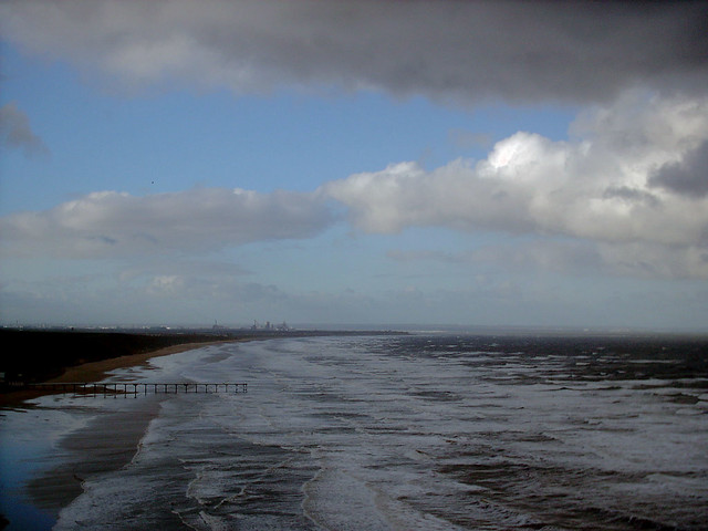 Stormy skies and seas at Saltburn-by-the-Sea