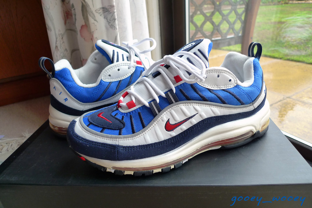 a60bd24385 Nike Air Max (98) 'Gundam' - Royal Blue / Comet Red - Obsi… | Flickr