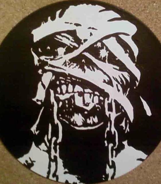 Eddie Iron Maiden Stencil 12 Record Eddie Iron Maiden On Flickr