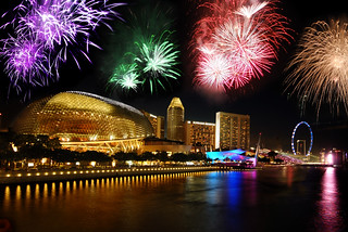 Singapore National Day fireworks sneak preview   by williamcho
