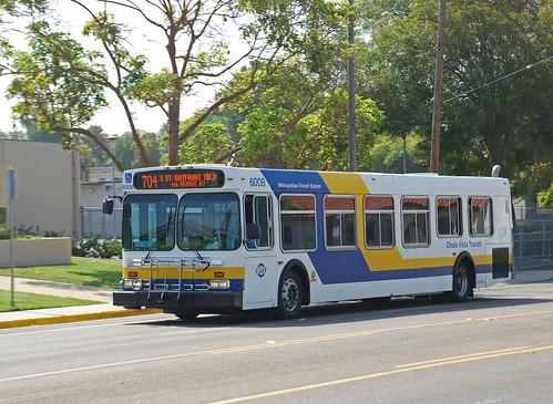 Chula Vista Transit Bus 2001 New Flyer D40lf On Fourth