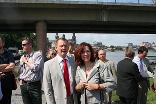Kerstin Kaiser und Bodo Ramelow in Dresden | by DIE LINKE. Sachsen