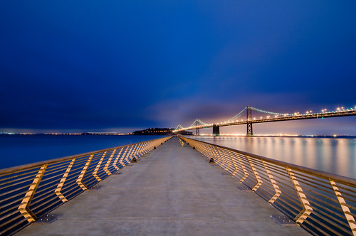sf sanfrancisco california longexposure morning bridge blue lines night sunrise dawn am nikon dusk wideangle tokina promenade baybridge embarcadero bayarea boardwalk ferrybuilding eastbay 28 alameda vanishing uwa converging 1116 pier14 explored peir14 d300s tokina1116mmf28