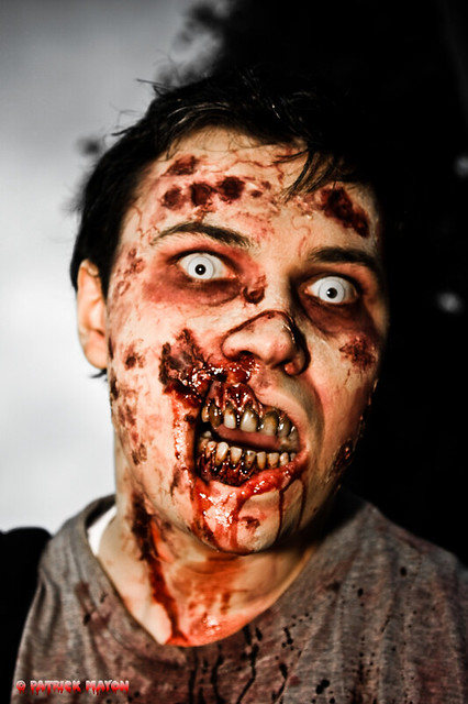 London zombies : a really scary one | The photo taken during