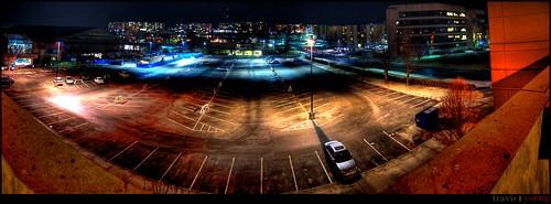 road night lawrence high student nikon university allen dynamic garage parking hill union towers lot center panoramic ku kansas irving 1855mm nikkor athlete range hdr fieldhouse afs jayhawk jayhawker dorms burge d40 buru wsac wagnon
