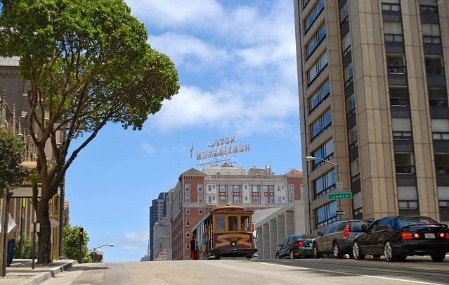 a cable car ride culminating on california