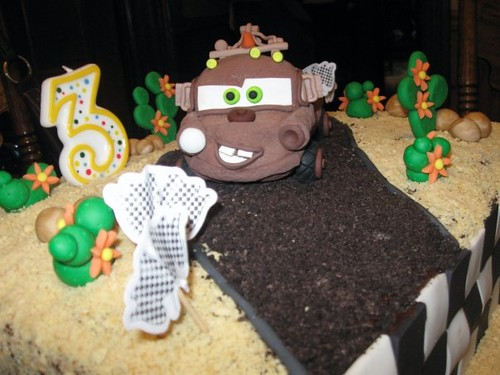 Pleasant Disney Cars Tow Mater Birthday Cake Close Up Of Mater Jac Vic Funny Birthday Cards Online Benoljebrpdamsfinfo
