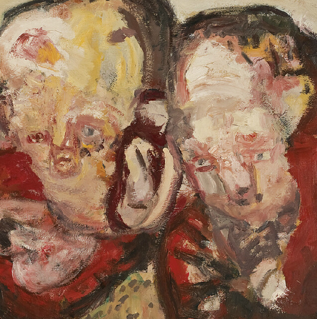 [ B ] Georg Baselitz - Three hearts (1963) - Detail