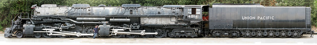 Union Pacific Big Boy 4014 lateral elevation