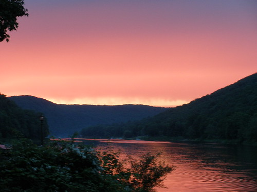 sunset river allegheny