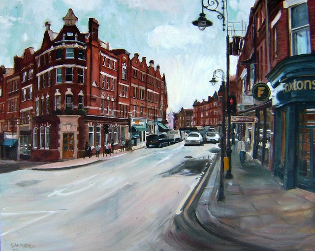 My painting Hampstead, North London