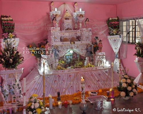 Altar u Ofrenda de Día de Muertos - Huaquechula, Puebla - México