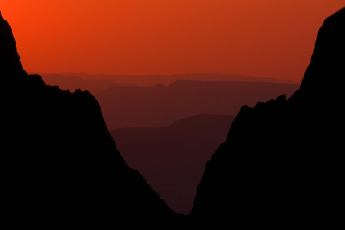 Big Bend National Park - Window View Sunset