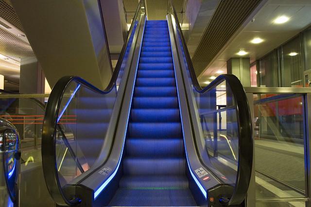 Escalator blue