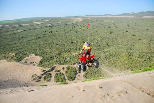 danger race four jump sand desert dune wheeler atv motocross leap