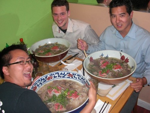 Big ass Phở bowls   ! My roomie, Danny and friends | Flickr