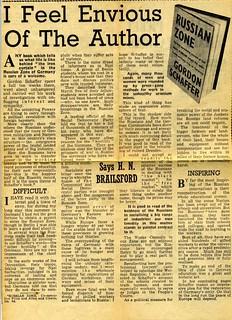 Reynolds News Review of Russian Zone, Gordon Schaffer,1947 by H.N.Brailsford
