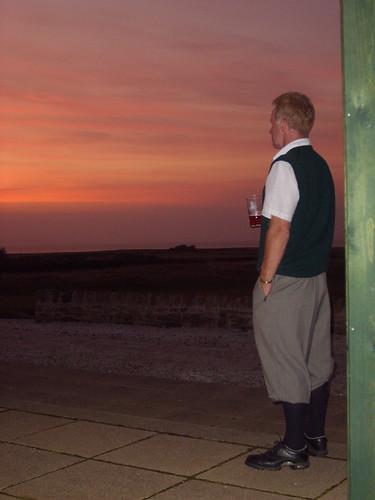 Scott Patrick filosoferar på Craigielaw och spanar ut över golfbanan, Firth of Forth och stranden.
