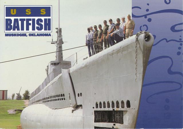 USS Batfish Submarine Postcard