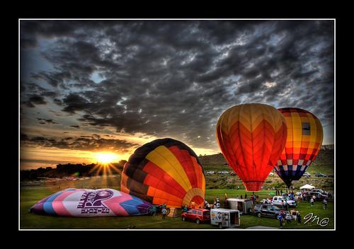 sunrise hotair balloon casper handheld wyoming hotairballoons hdr 3exp casperballoonroundup