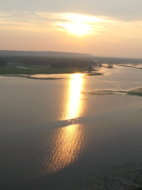 Close to Sunset Over the Mississippi