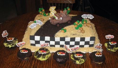 Fabulous Disney Cars Tow Mater Birthday Cake Sheet Cake For My Neph Flickr Funny Birthday Cards Online Benoljebrpdamsfinfo