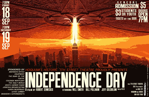 Poster design for Independence Day movie