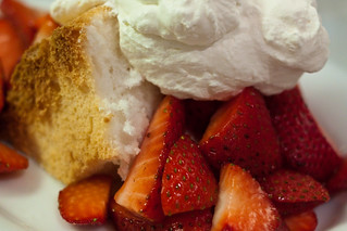 Strawberry Angel Food Cake | by KeriFlur