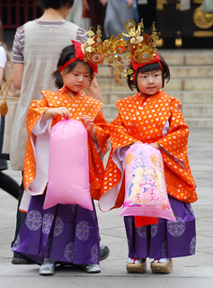 adorable girls at local temple, tokyo | by hopemeng
