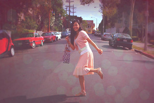 Phooning in pretty pink skirt :) | by 8 SίMpLe RuLeS *Enjoying Mommyhood :)*