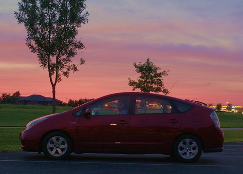 sunset sky illinois sony il prius 300 pinksky rockford